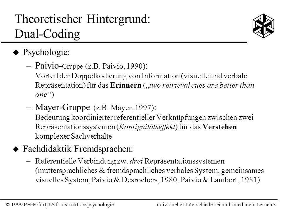 Theoretischer Hintergrund: Dual-Coding