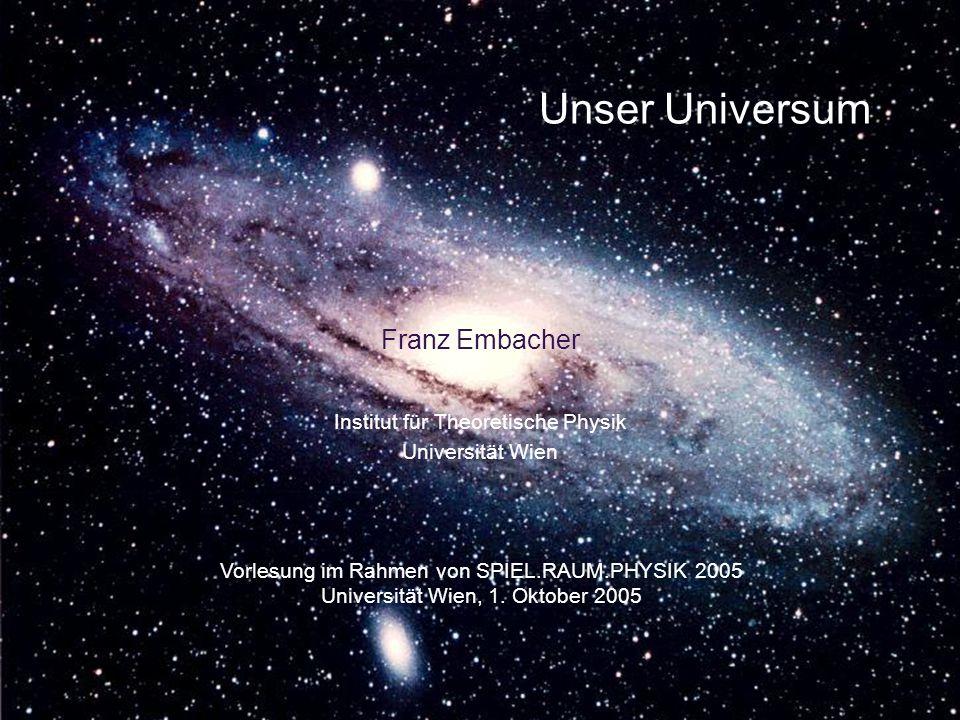 Unser Universum Franz Embacher Institut für Theoretische Physik