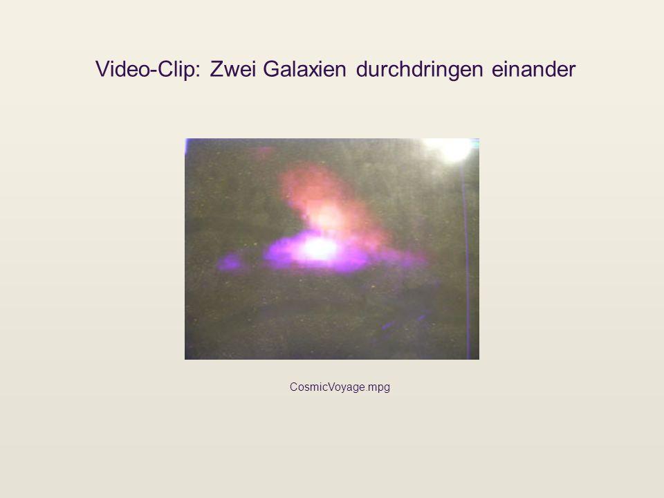 Video-Clip: Zwei Galaxien durchdringen einander