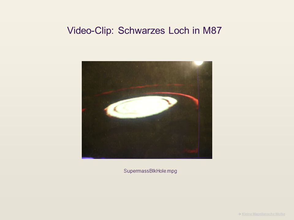 Video-Clip: Schwarzes Loch in M87