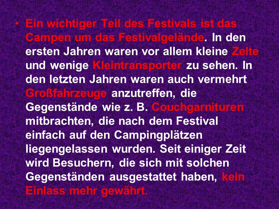 Ein wichtiger Teil des Festivals ist das Campen um das Festivalgelände