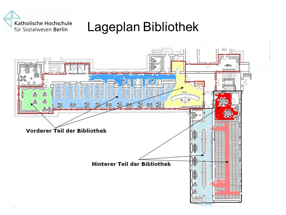 Lageplan Bibliothek