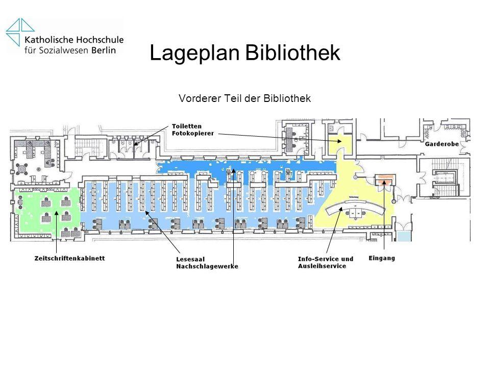 Lageplan Bibliothek Vorderer Teil der Bibliothek