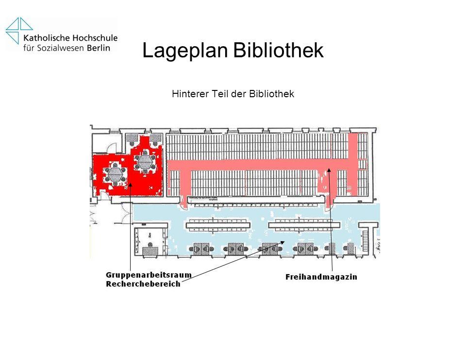 Lageplan Bibliothek Hinterer Teil der Bibliothek