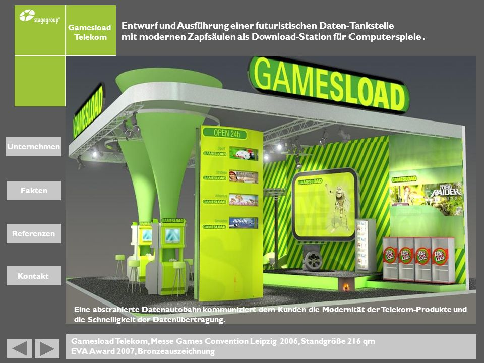 Entwurf und Ausführung einer futuristischen Daten-Tankstelle