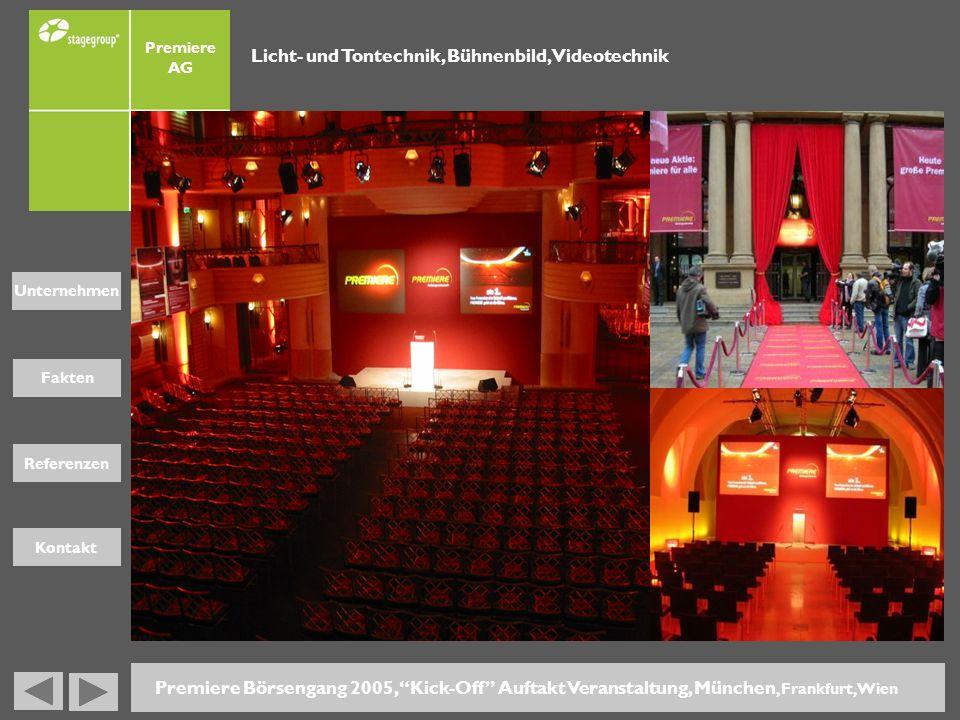 Licht- und Tontechnik, Bühnenbild, Videotechnik