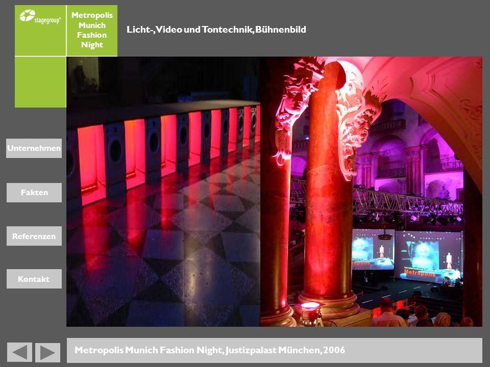 Licht-, Video und Tontechnik, Bühnenbild