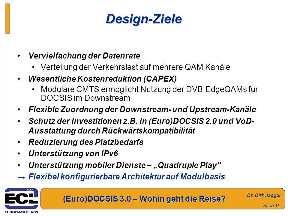 Design-Ziele Vervielfachung der Datenrate