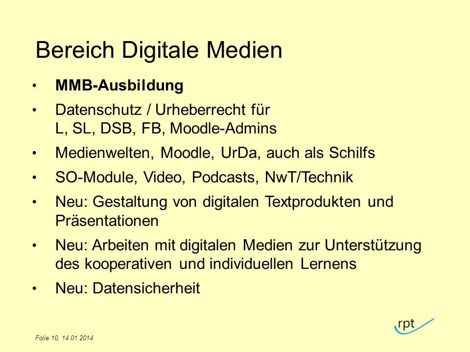 Bereich Digitale Medien