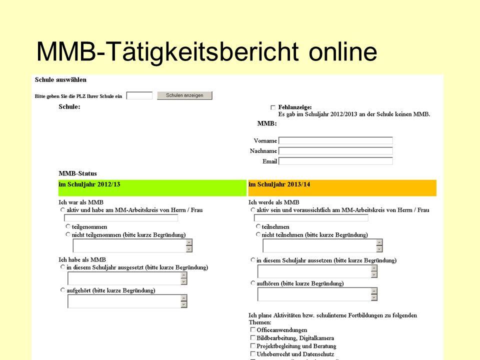 MMB-Tätigkeitsbericht online