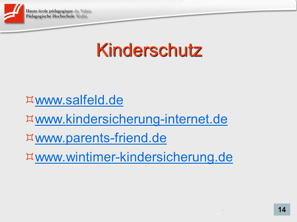 Kinderschutz www.salfeld.de www.kindersicherung-internet.de