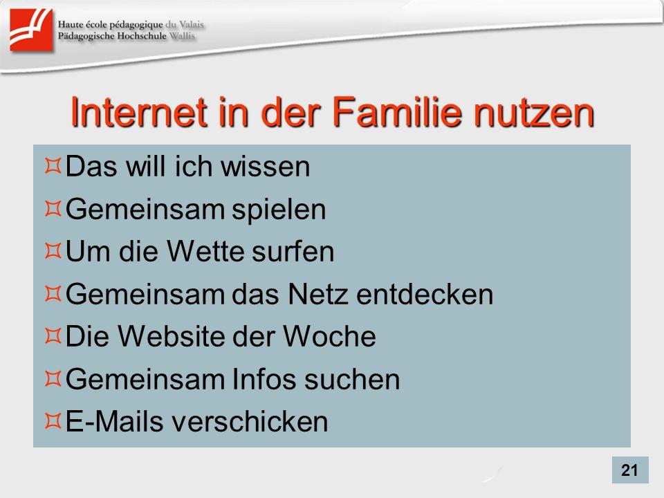 Internet in der Familie nutzen