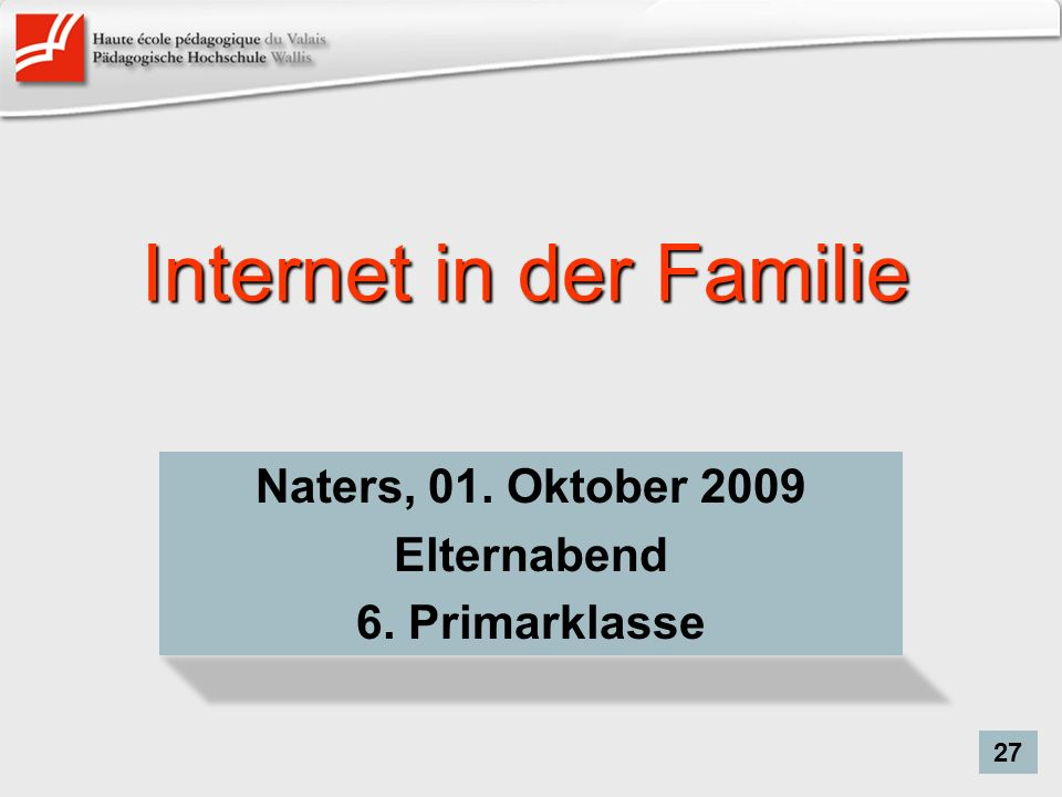 Internet in der Familie