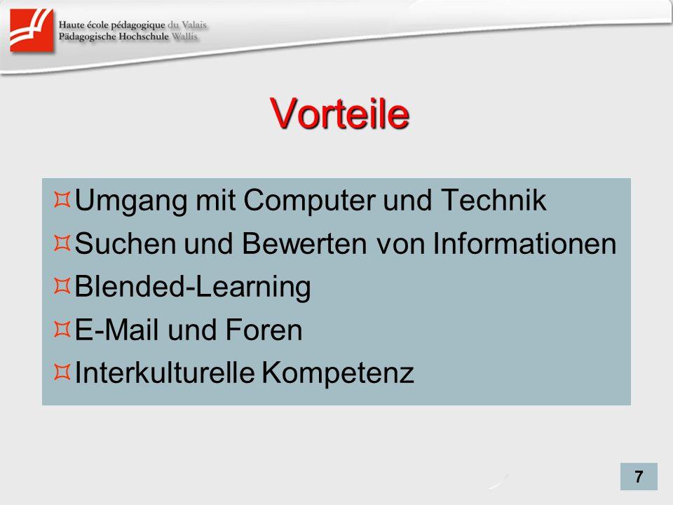 Vorteile Umgang mit Computer und Technik