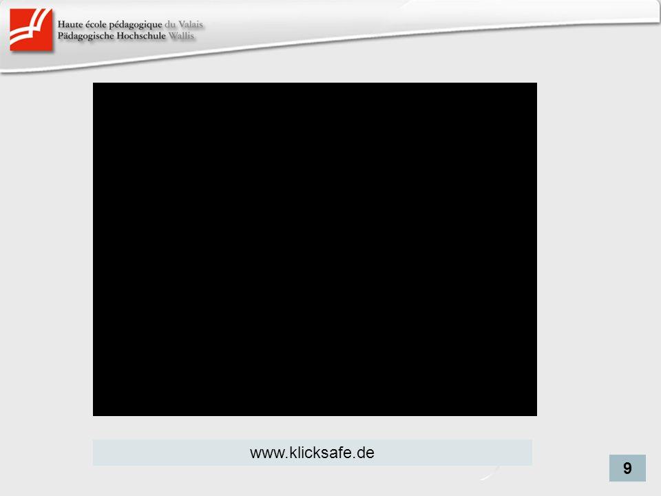 Schlechte Seiten www.klicksafe.de 9