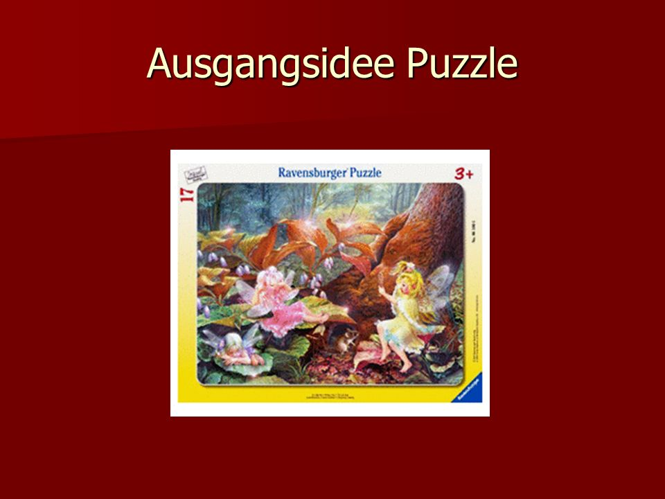 Ausgangsidee Puzzle