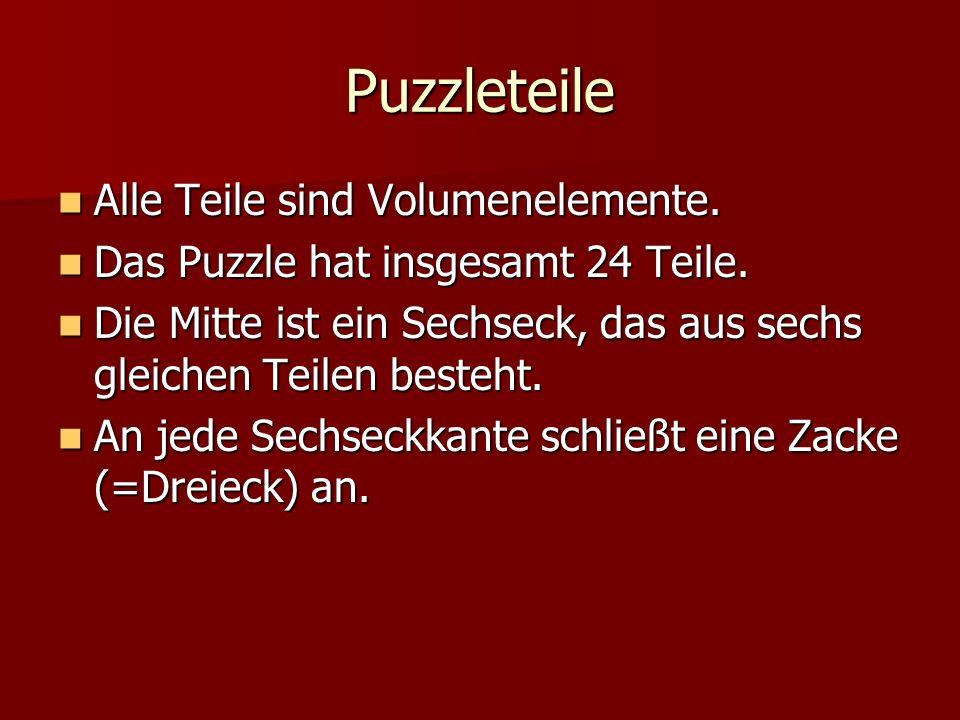 Puzzleteile Alle Teile sind Volumenelemente.