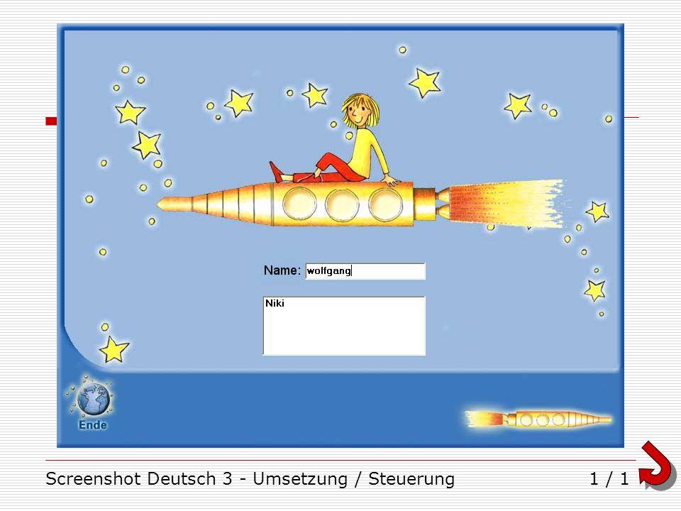 Screenshot Deutsch 3 - Umsetzung / Steuerung