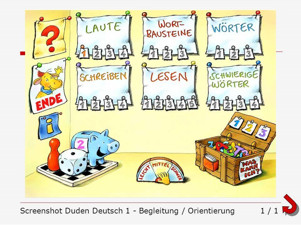 Screenshot Duden Deutsch 1 - Begleitung / Orientierung