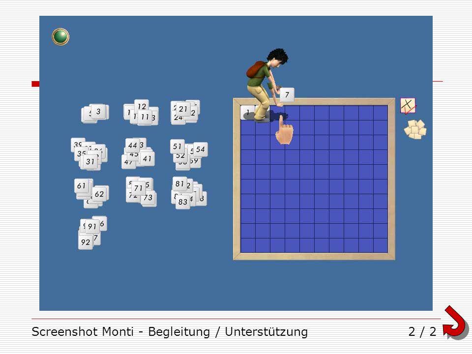 Screenshot Monti - Begleitung / Unterstützung