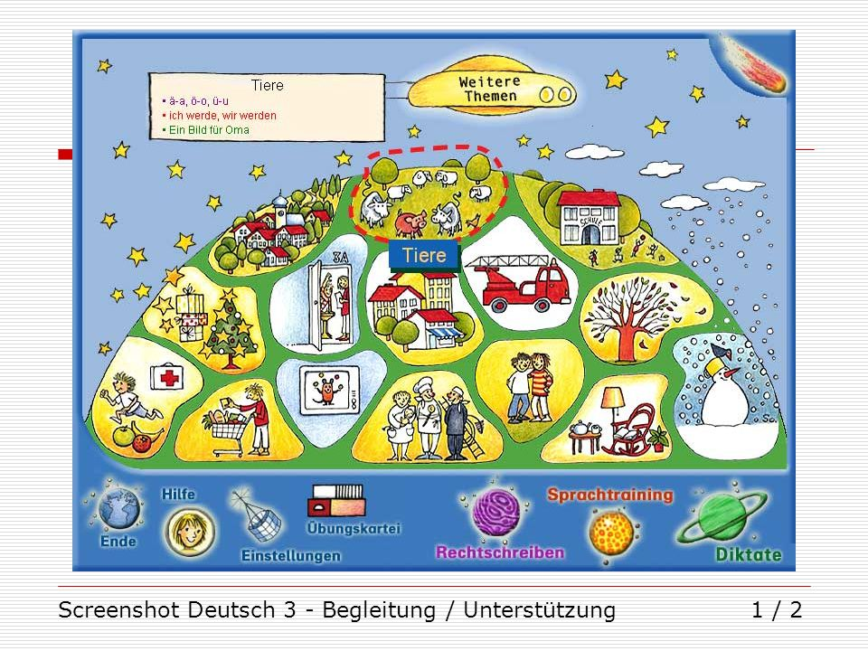 Screenshot Deutsch 3 - Begleitung / Unterstützung
