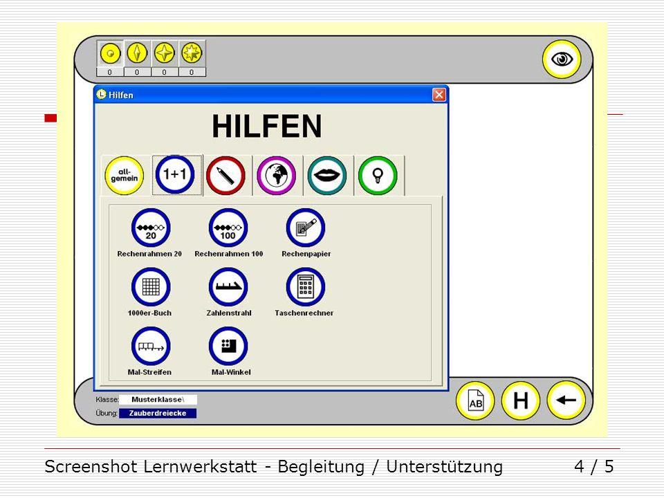 Screenshot Lernwerkstatt - Begleitung / Unterstützung