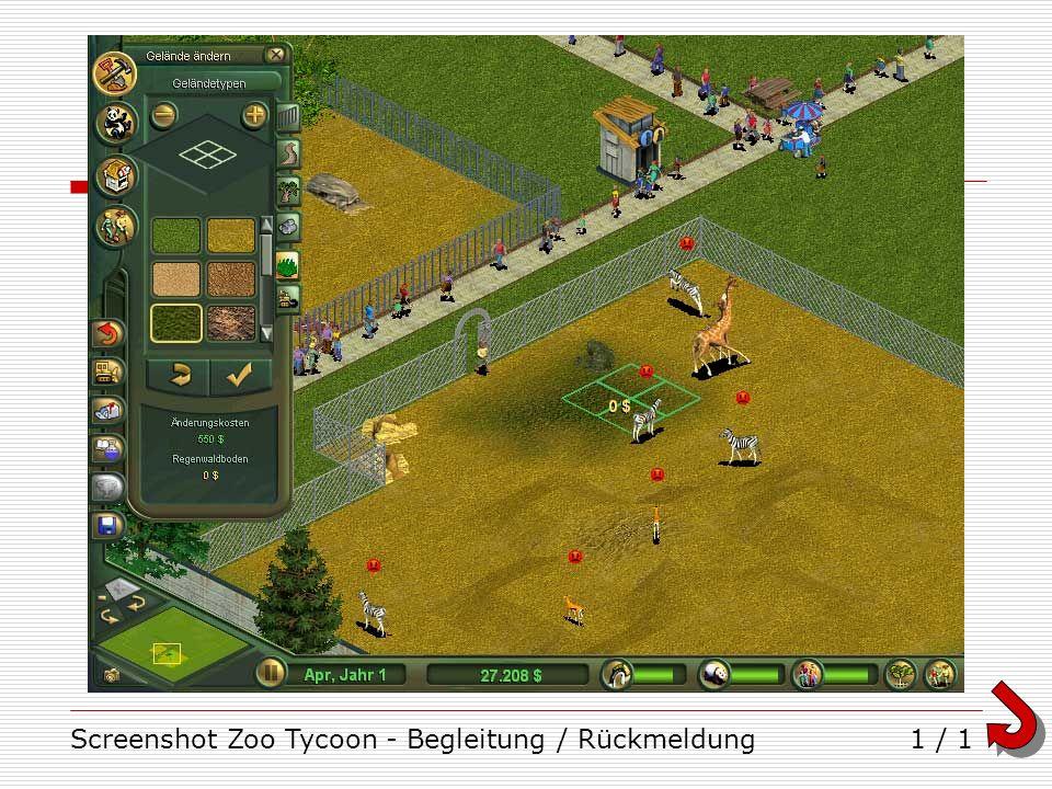 Screenshot Zoo Tycoon - Begleitung / Rückmeldung