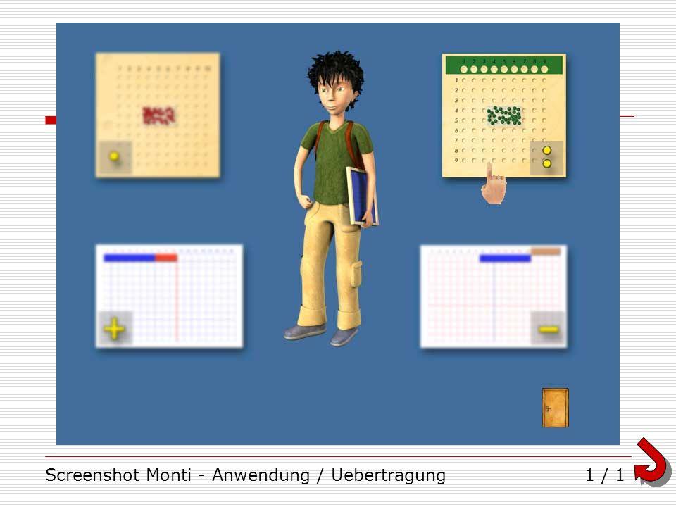 Screenshot Monti - Anwendung / Uebertragung
