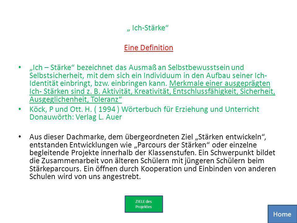 """"""" Ich-Stärke Eine Definition"""