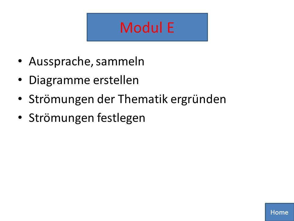 Modul E Modul E Aussprache, sammeln Diagramme erstellen