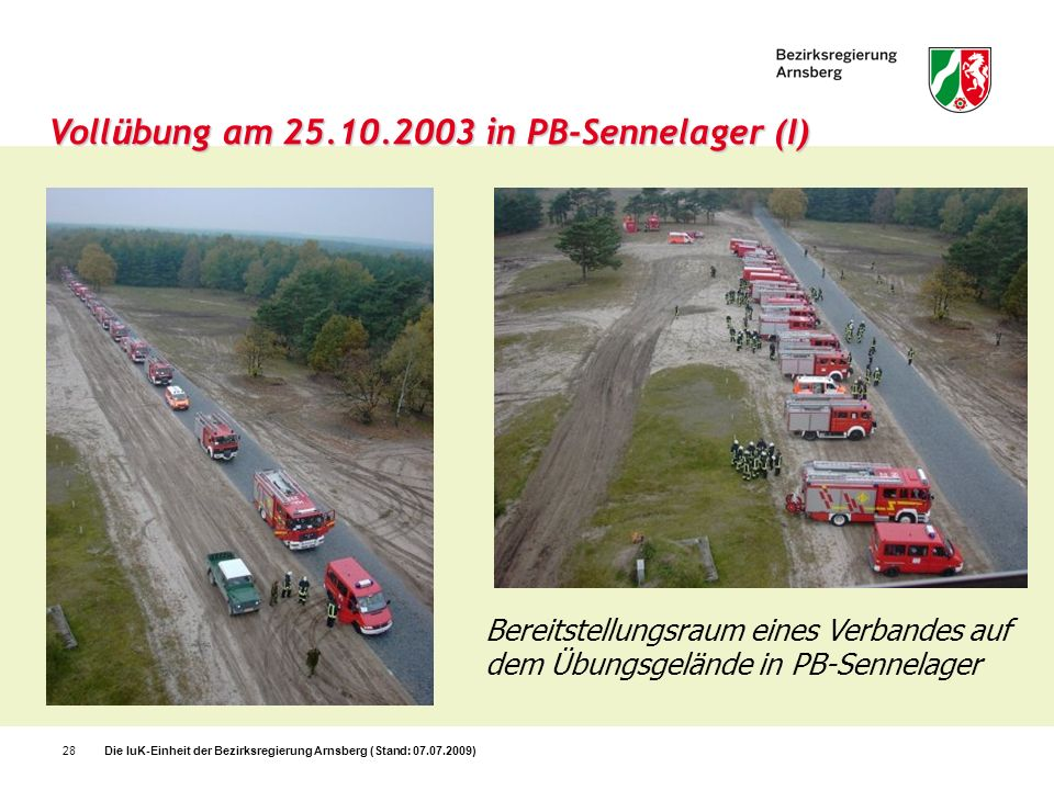 Vollübung am 25.10.2003 in PB-Sennelager (I)