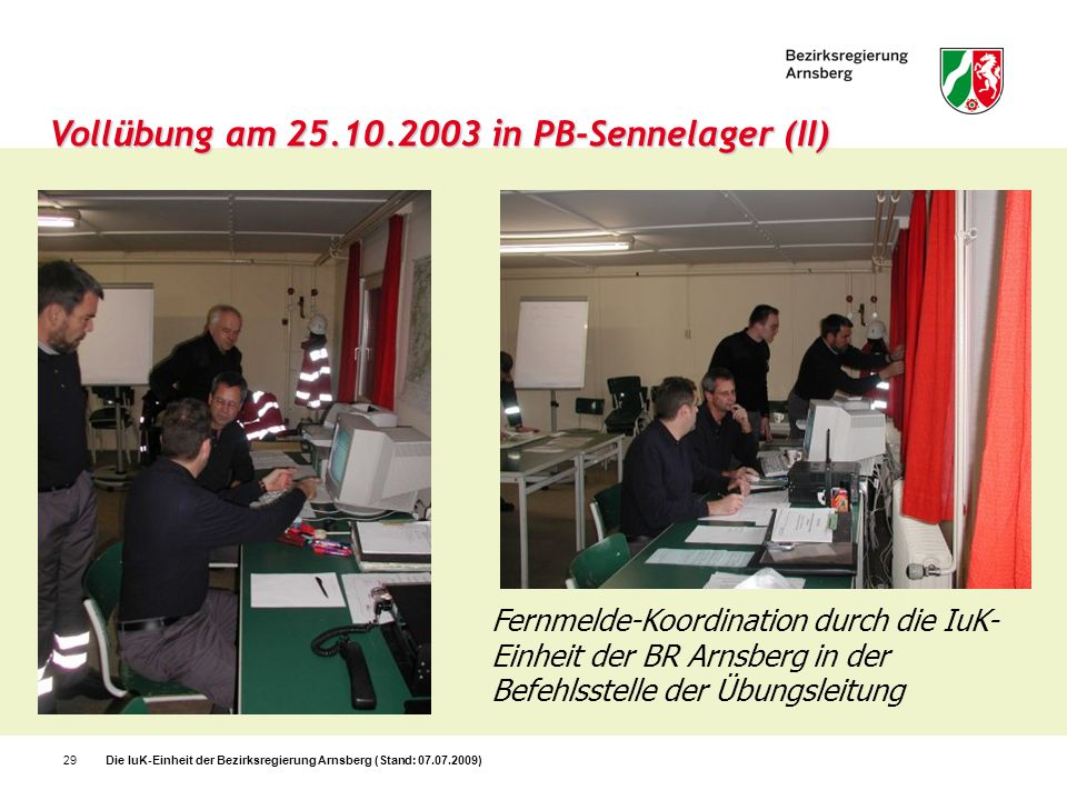 Vollübung am 25.10.2003 in PB-Sennelager (II)