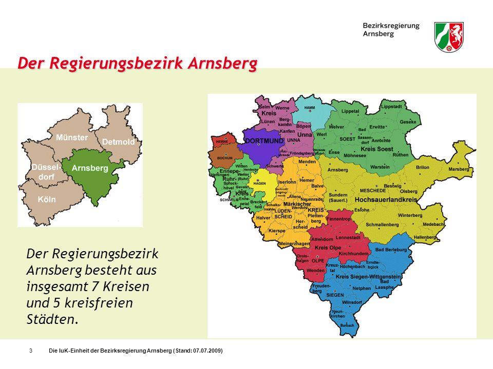 Der Regierungsbezirk Arnsberg