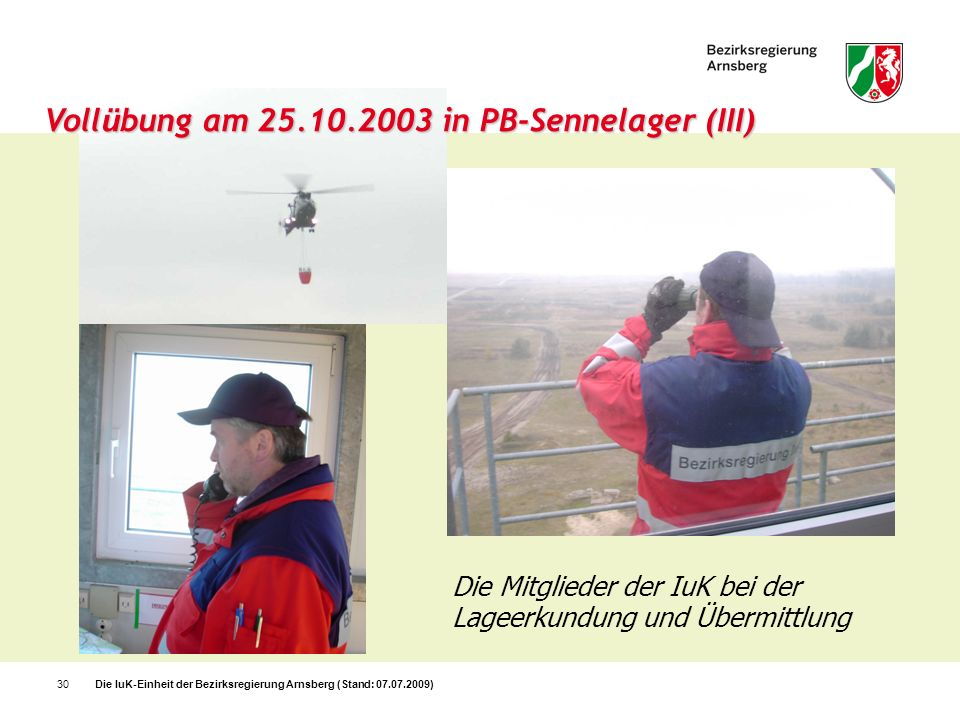 Vollübung am 25.10.2003 in PB-Sennelager (III)