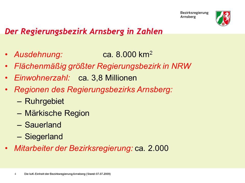 Der Regierungsbezirk Arnsberg in Zahlen