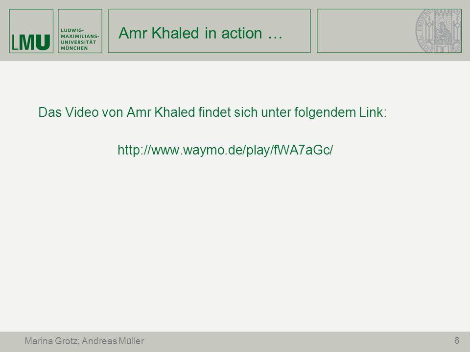 Amr Khaled in action … Das Video von Amr Khaled findet sich unter folgendem Link: http://www.waymo.de/play/fWA7aGc/