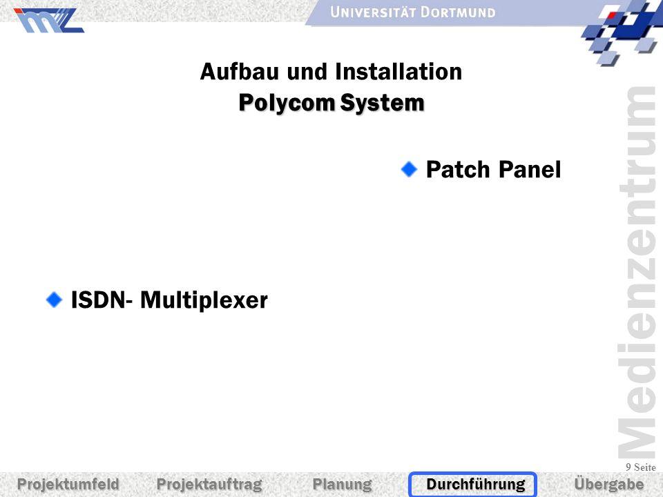 Aufbau und Installation Polycom System