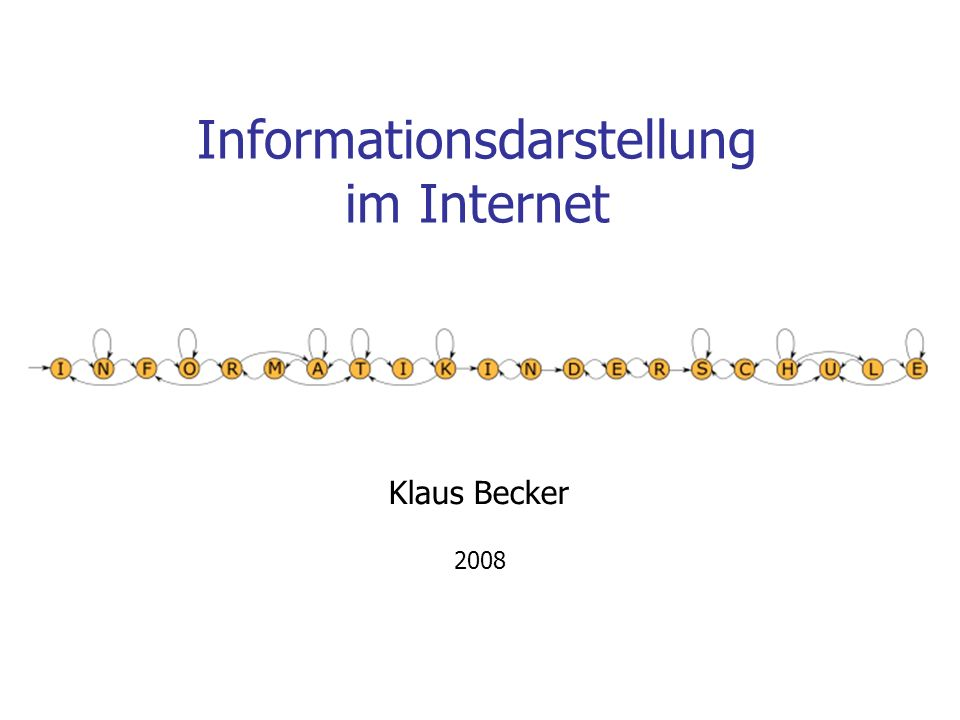 Informationsdarstellung im Internet