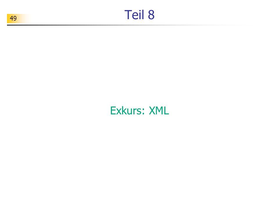 Teil 8 Exkurs: XML