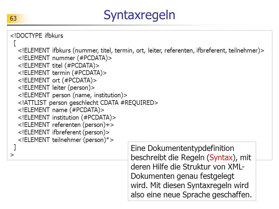 Syntaxregeln
