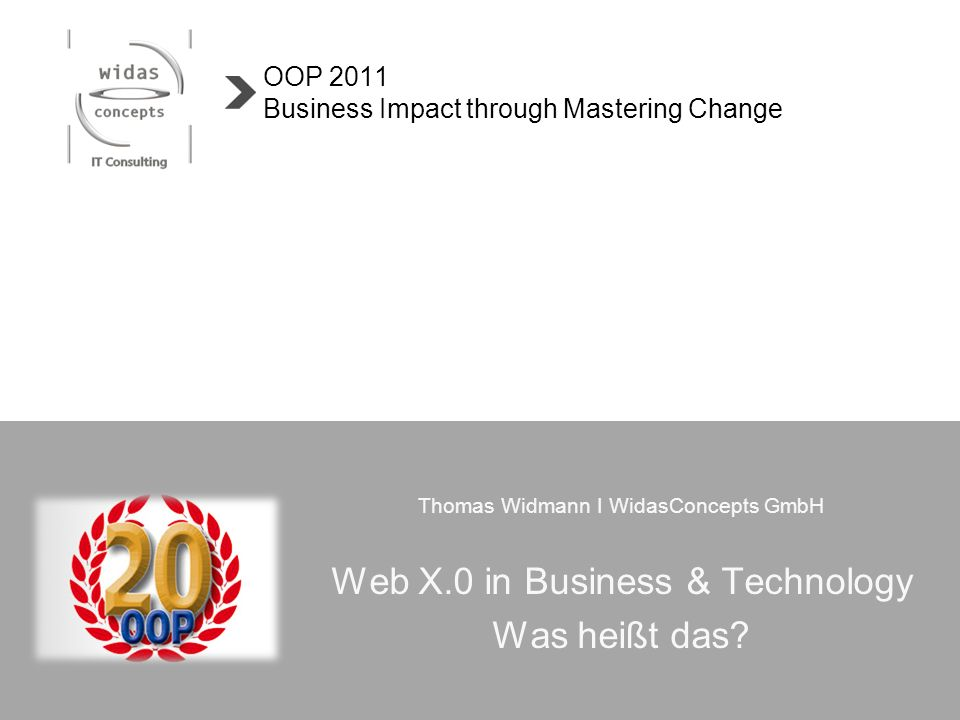 OOP 2011 Business Impact through Mastering Change