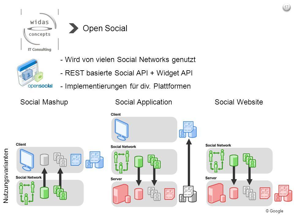 Open Social Wird von vielen Social Networks genutzt