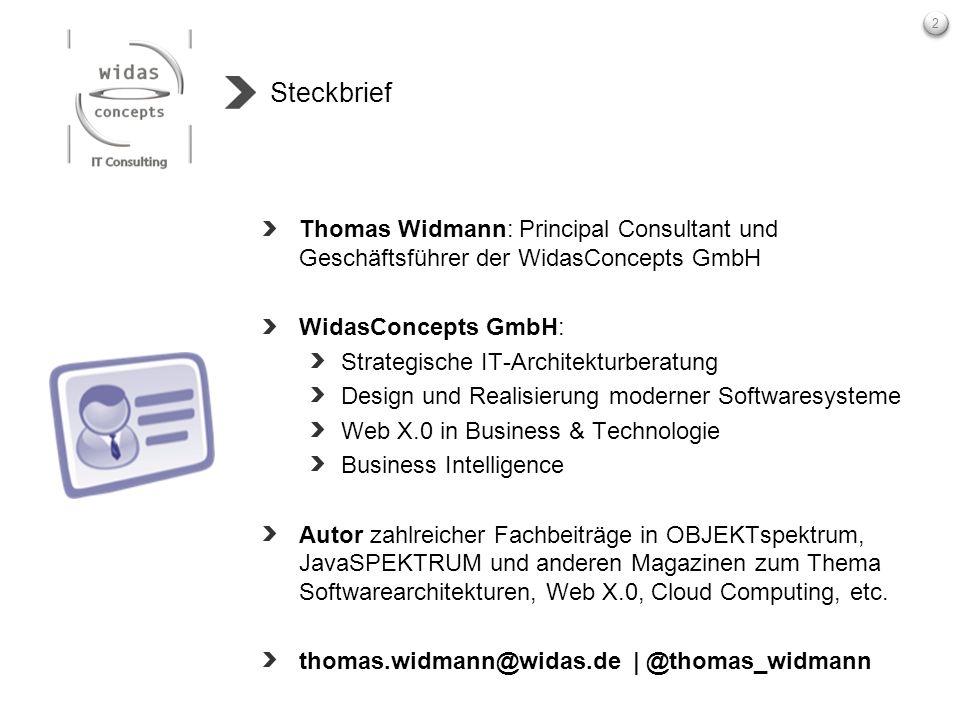 Steckbrief Thomas Widmann: Principal Consultant und Geschäftsführer der WidasConcepts GmbH. WidasConcepts GmbH: