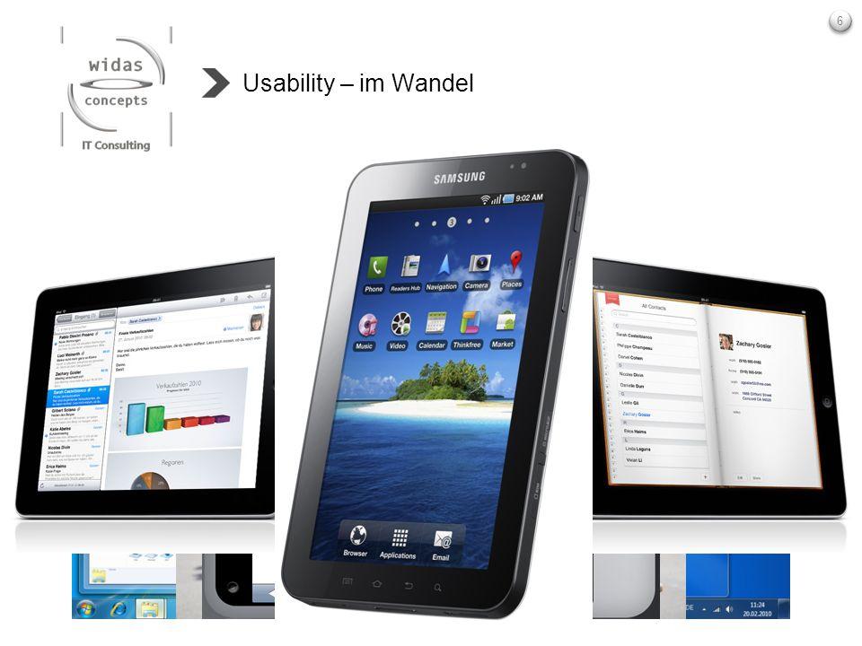Usability – im Wandel