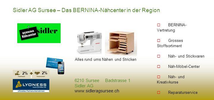 Sidler AG Sursee – Das BERNINA-Nähcenter in der Region
