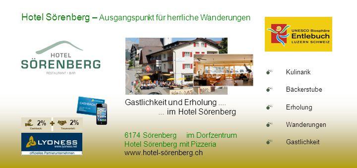 Hotel Sörenberg – Ausgangspunkt für herrliche Wanderungen