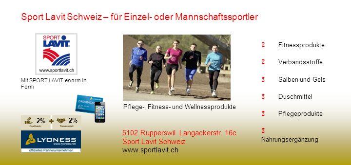 Sport Lavit Schweiz – für Einzel- oder Mannschaftssportler