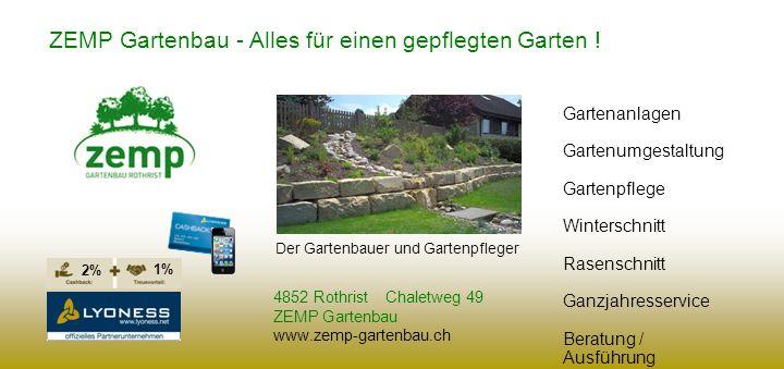 ZEMP Gartenbau - Alles für einen gepflegten Garten !