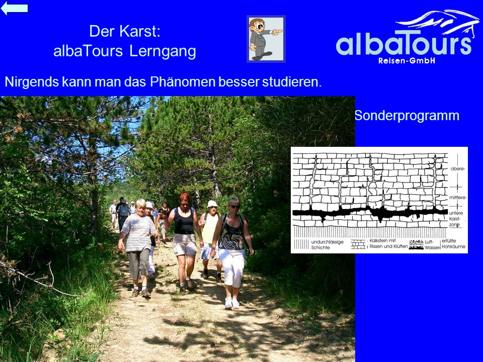 Der Karst: albaTours Lerngang