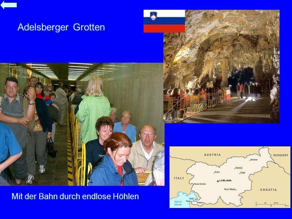 Mit der Bahn durch endlose Höhlen